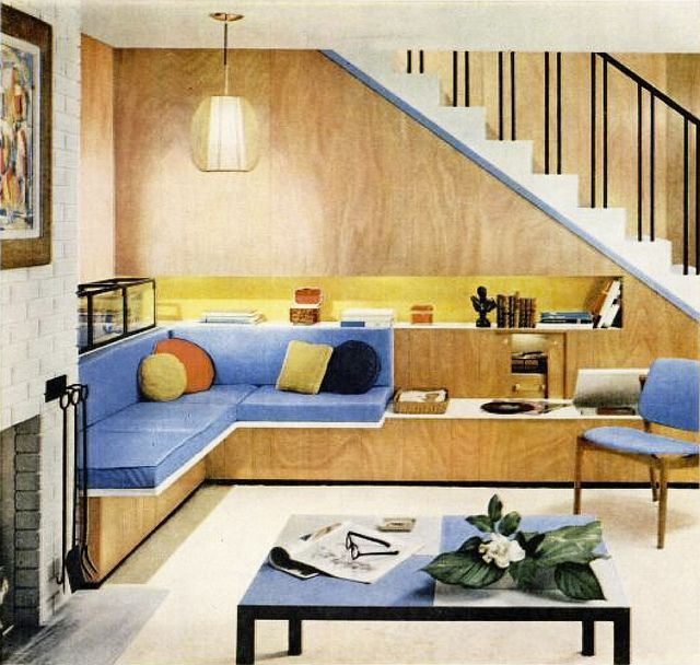 Vintage Decor: Primary hues plus golden wood up to an inviting ...