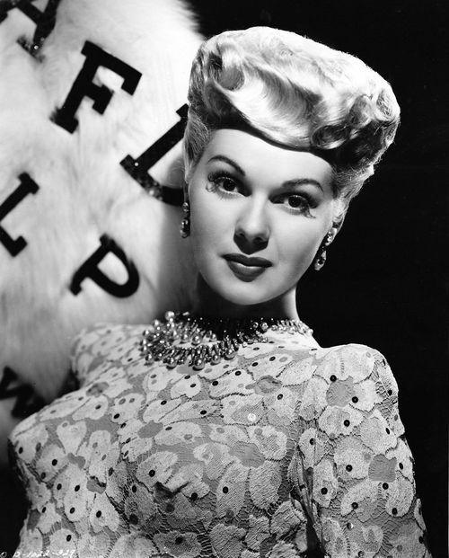 Vintage Hairstyle Adele Jergens 1945 Vintage Tn Leading